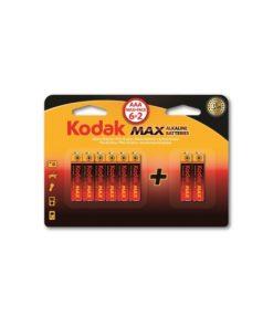 Kodak Max 6+2 AAA ince Pil Alkalin 3A Pil 8li maks paket