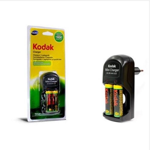 Kodak 2 Pil + şarj Cihazı K630E-EC+2 AA 2100mAh Şarjlı Kalem pil