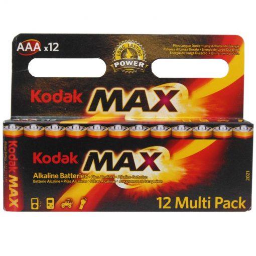 Kodak Alkalin 12 AAA ince Pil 12 Multi Pack Kodak Max 3A Pil