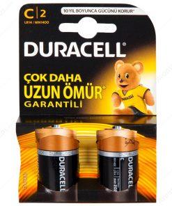 Duracell C Orta Boy Pil 2li paket Alkalin Pil LR14 MN1400