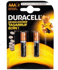 Duracell ince Kalem Pil AAA 2li paket Alkalin Pil LR03 MN2400