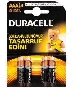 Duracell ince Kalem Pil AAA 4lü paket Alkalin Pil LR03 MN2400