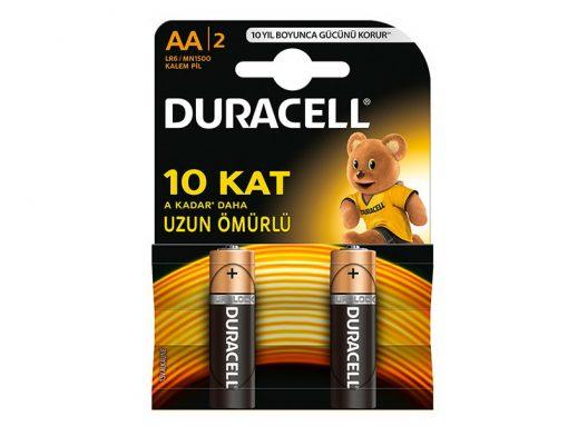 Duracell Kalem Pil AA 2li paket Alkalin Pil LR6 MN1500 kartela