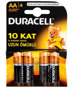Duracell Kalem Pil AA 4lü paket Alkalin Pil LR6 MN1500