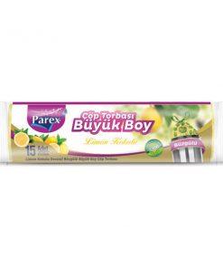 Çöp Poşeti Büzgülü Büyük Boy Limon Kokulu Çöp Torbası Parex 2107413
