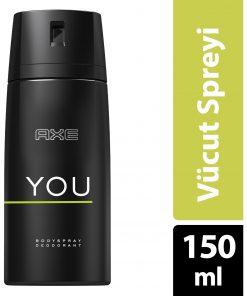 Axe You Deodorant Vücut Spreyi 150ml Kalıcı Koku Sprey Bodyspray