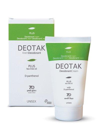 Deotak Krem Deodorant 35 Ml Plus Unisex Pantenol Çay Ağacı Yağı