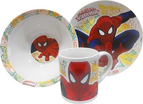 Spiderman Örümcek Adam Çocuk Yemek Takımı Kase Tabak Kupa Mama Seti