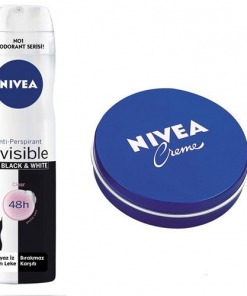 Nivea Invisible Black White Clear Spray Deodorant + Krem 30 ml Hediye