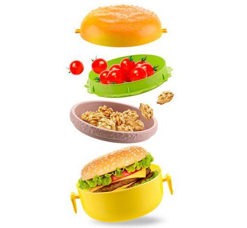 Hamburger Şekilli Saklama Kabı ve Beslenme Çantası Kutusu