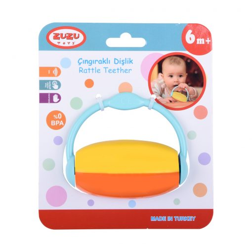 Bebeklere Çıngıraklı Dişlik Sesli Diş Kaşıyıcı BPAsız Zuzu Oyuncak