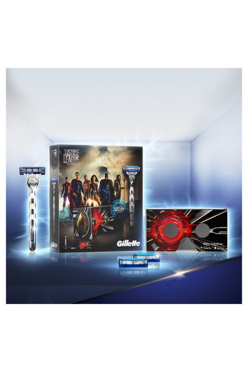Gillette Mach3 Turbo Tıraş Makinesi + 2'li Yedek Bıçağı Justice League Set