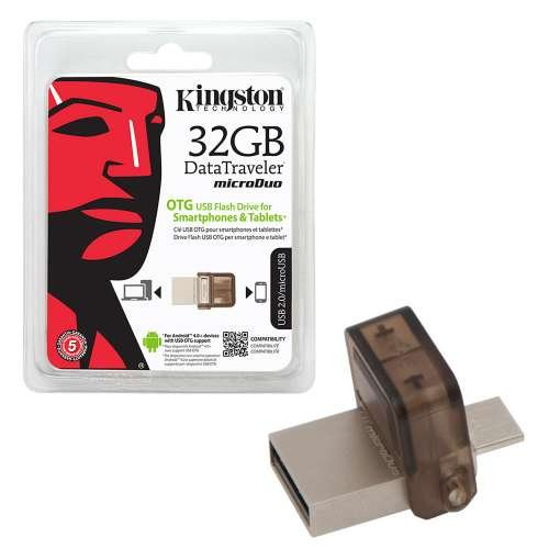 Kingston 32GB Microduo USB OTG Bellek Flash Disk Mini Hafıza