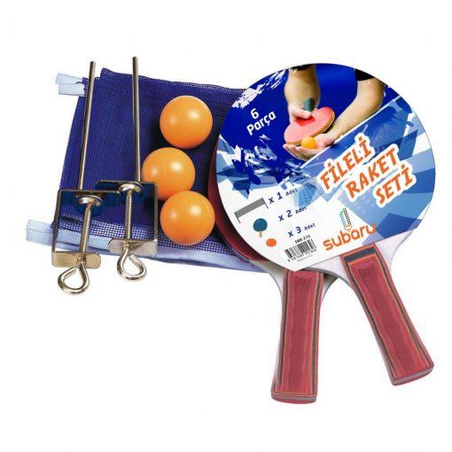 2x Masa Tenisi Raketi + Demir Ağ File + 3x Pinpon Topu Seti