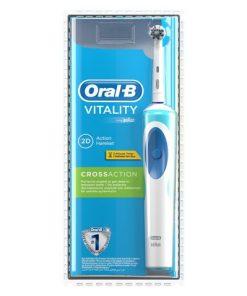 Oral-B Şarjlı Diş Fırçası Vitality CrossAction D12 3D White Şarj Edilebilir Pilli