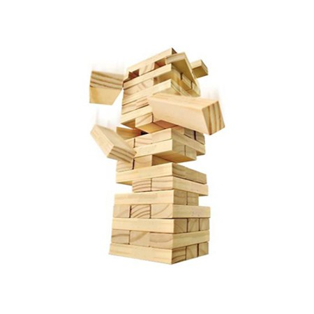 Oyuncak Jenga Ahşap Denge Taktik Oyunu Lengo Oyuncak 54 Parça