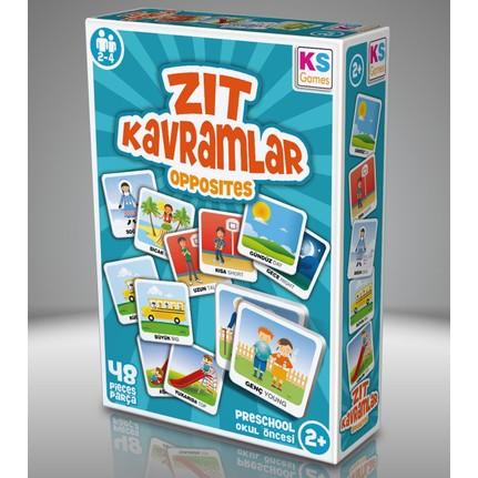Ca Zıt Kavramlar 58 Kart Oyuncak Eğitici Kartlar Oyun Seti Ca 5045