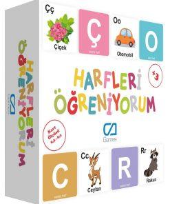 Eğitici Harfleri Öğreniyorum Eğitici Çocuk Oyunu 29 Parça Oyun Seti Ca Games 5042
