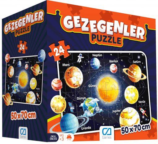 Eğitici Oyuncak Gezegenler Puzzle 24 Parça Yap boz Ca Games 5026