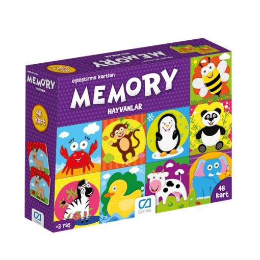 Eğitici Oyuncak Memory Hayvanlar Eşleştirme Kartları Oyun Seti Ca Games 5041
