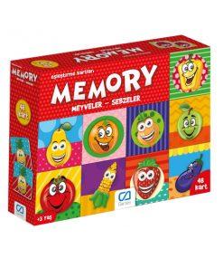 Eğitici Oyuncak Memory Meyveler Sebzeler Eşleştirme Kartları Oyun Seti Ca Games 5040