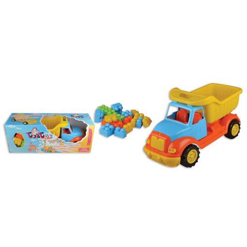 Tonton Çöp Kamyonu 43Cm 38 Parça Bloklu Oyuncak Çöp Arabası