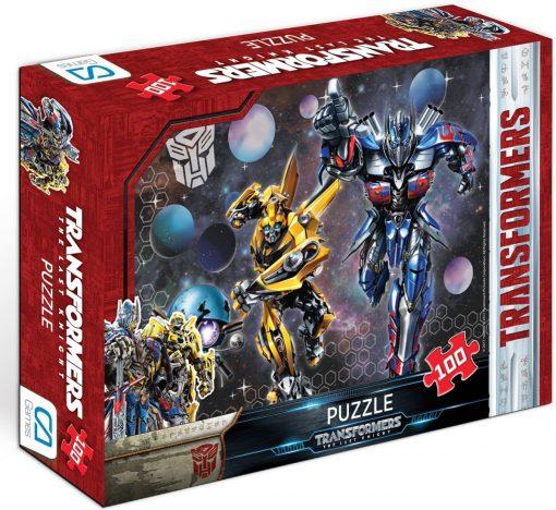 Transformers 100-1 Puzzle 100 Parça Yap boz Oyuncak Bumblebee & Optimus Prime Ca Games 5007