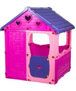Çoçuk Oyun Evi Plastik Oyuncak Şimşek Oyun Parkı Evcilik Ev Oyunu Pembe