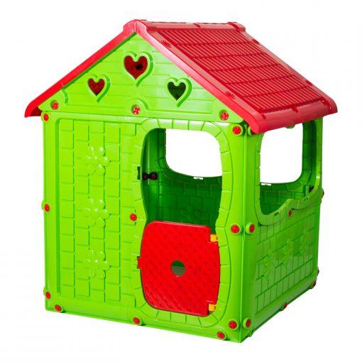 Çoçuk Oyun Evi Plastik Oyuncak Şimşek Oyun Parkı Evcilik Ev Oyunu Yeşil