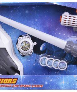 Işın Kılıcı Uzay Yolu Tüfeği Maskeli Oyuncak Seti Işıklı Sesli Pilli Canem Lm888-2d