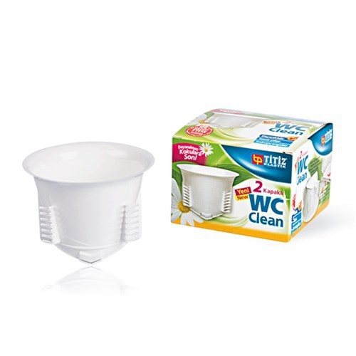 Wc Clean 2 Kapak Tuvalet Gider Kapağı Kutulu Kapatma Aparatı Titiz TP-320