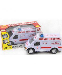 Türkçe Konuşan Oyuncak Ambulans Pilli Beril 033-A-24