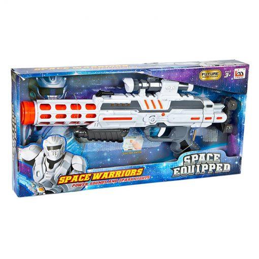 Uzay Yolu Tüfeği Sesli Işıklı Tüfek Pilli Oyuncak Uzay Silahı Canem Lm666-7