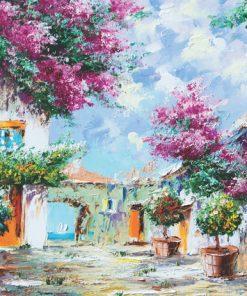 1000 Parça Puzzle Yap boz Akdeniz Bahçeleri 68x48Keskin Color Puzz