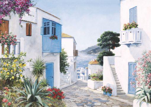 1000 Parça Puzzle Yap boz Akdeniz Evleri 68x48Keskin Color Puzz