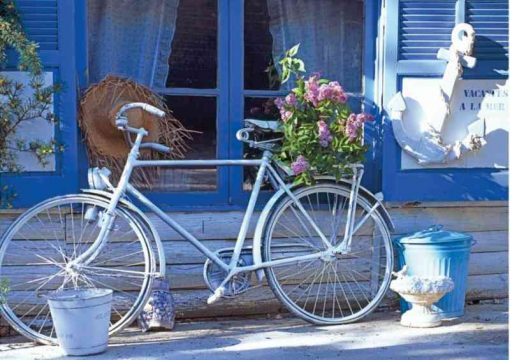 1000 Parça Puzzle Yap boz Bisiklet 68x48Keskin Color Puzz