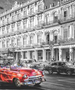 1000 Parça Puzzle Yap boz Kırmızı Araba 68x48Keskin Color Puzz