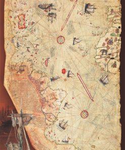 1000 Parça Puzzle Yap boz Piri Reis Haritası 68x48Keskin Color Puzz