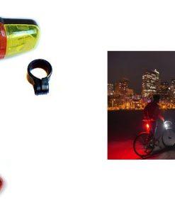 Bisiklet Işığı Gece Lambası Güvenlik Arka Led Işık Uyarı İkaz Reflektörü