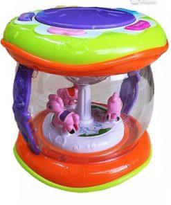 Mini Masalcı Davulcuk Pilli Müzikli Renkli Işıklı Kaya Oyuncak Birlik 5512