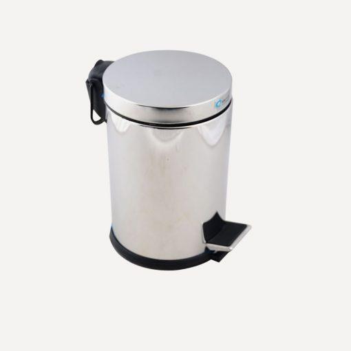 Pedallı Çöp Kovası 5 Litre Paslanmaz Çelik Çöp Kutusu Mikro Serisi inoks Doğrular Perilla 83010