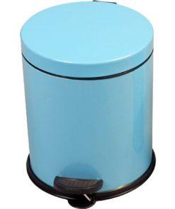 Pedallı Çöp Kovası 5 Litre Toz Mavi Paslanmaz Çelik Çöp Kutusu Doğrular Perilla 83012
