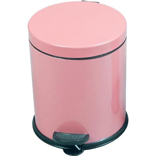 Pedallı Çöp Kovası 5 Litre Toz Pembe Paslanmaz Çelik Çöp Kutusu Doğrular Perilla 83012