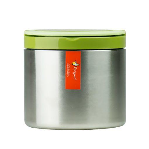 Penguen Paslanmaz Çelik Tek Katlı Yemek Termosu Sefer Tası Png1301 Yeşil