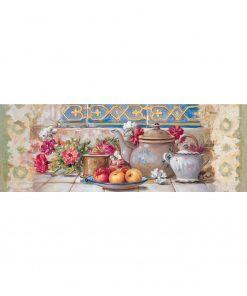 1000 Parça Yap boz Panaromik Çay Takımı 34x96 Puzzle Keskin Color Puzz
