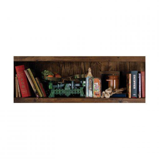 1000 Parça Yap boz Panaromik Kitaplık 34x96 Puzzle Keskin Color Puzz