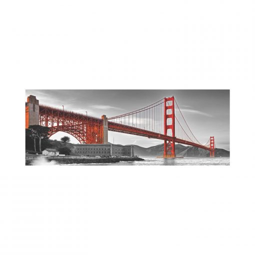 1000 Parça Yap boz Panaromik San Francisco 34x96 Puzzle Keskin Color Puzz