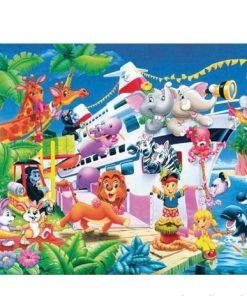 150 Parça Çocuk Yap boz 35x50 Puzzle Keskin Color Puzz Hayvanlı Gemi Model 2