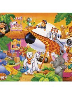 150 Parça Çocuk Yap boz 35x50 Puzzle Keskin Color Puzz Sevimli Hayvanlar Model 3