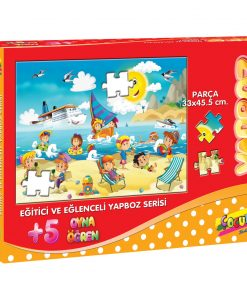 150 Parça Çocuk Yap boz 35x50 Puzzle Keskin Color Puzz Yaz Tatili Model 8